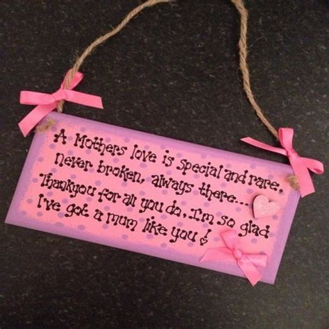 Handmade Wooden Plaques - handmade wooden plaque a mothers is special and