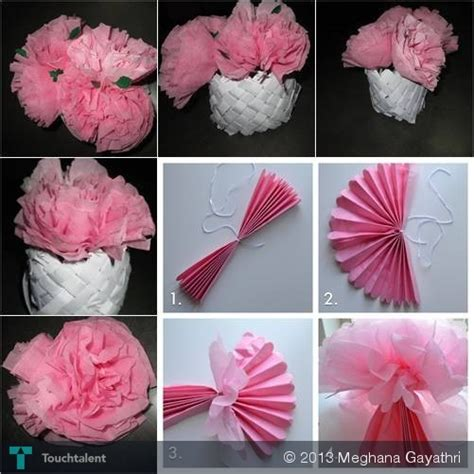 Arts And Crafts Tissue Paper Flowers - tissue paper flowers crafts meghana gayathri touchtalent
