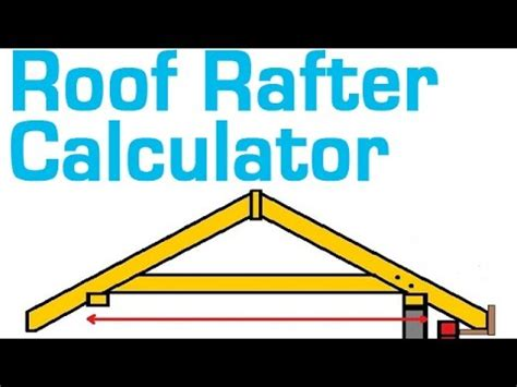 ROOF RAFTER CALCULATOR   Estimate Rafter Length, Cost and
