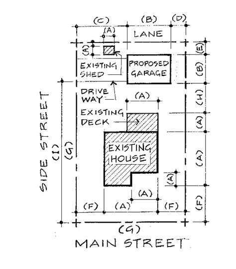 Japanese Home Floor Plan by Site Plan Survey Requirements For Residential Accessory