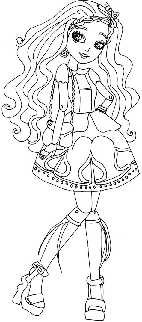 ever after high coloring pages ashlynn ella ashlyn ella and hunter huntsman coloring opage google