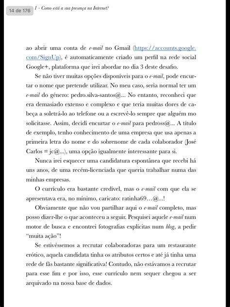 Promoção: Livro em PDF, currículo e carta de apresentação