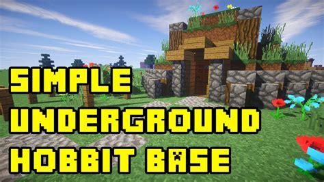 minecraft simple underground hobbit base house tutorial
