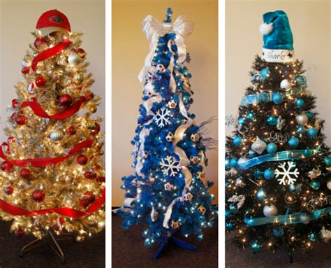 using ribbon to decorate a tree how to make a sports themed tree