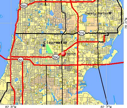 zip code map clearwater fl florida zip code map pinellas county