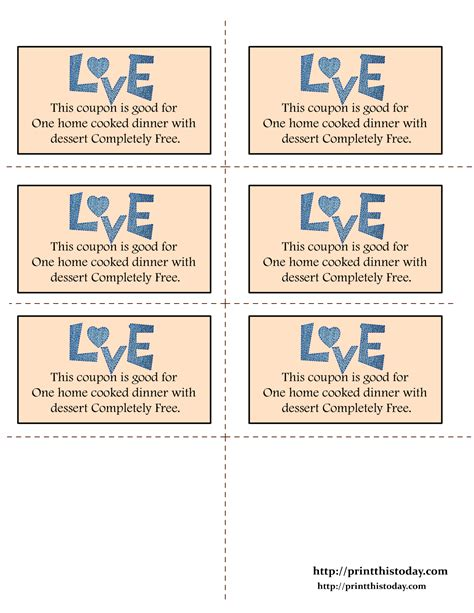 free printable dirty love coupons for him printable love coupons