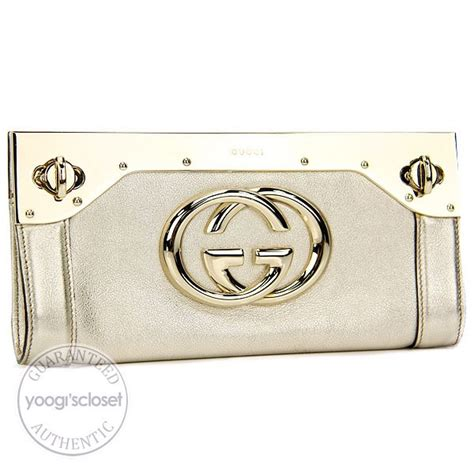 Gucci Starlight Evening Bag gucci silver leather starlight metal frame evening clutch