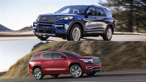 2020 Gmc Vs Ford 2020 ford explorer vs 2019 gmc acadia how the compare
