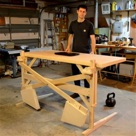 Diy Adjustable Standing Desk Rumschlag S Diy Motor Free Height Adjustable Standing Desk Core77