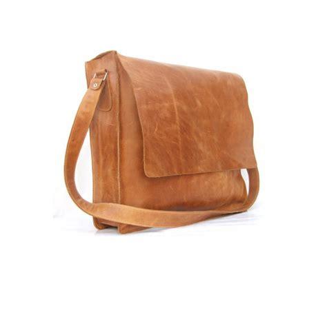 mens brown leather satchel messenger bag mens unisex brown leather satchel by abizema