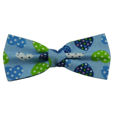 light blue bow tie light blue spots hearts novelty bow tie from ties planet uk