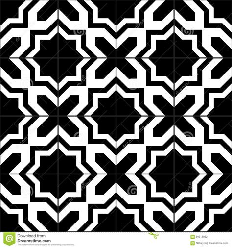 pattern tiles black and white black and white moroccan tiles seamless pattern vector