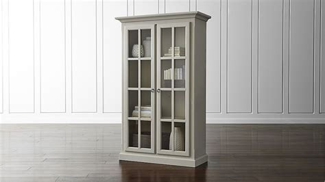 schrank vitrine vitrine cabinet crate and barrel
