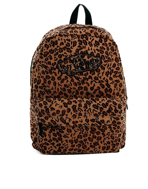 Leopard Print Backpack vans vans realm backpack with leopard print at asos