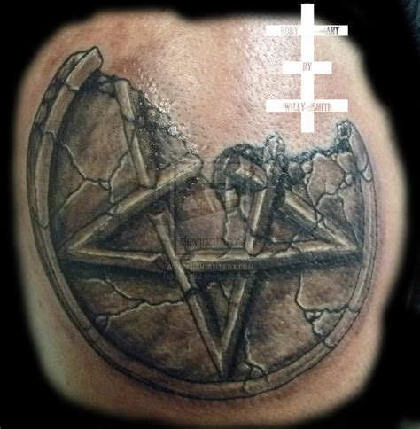 pentacle tattoo pentagram by lefey23 on deviantart