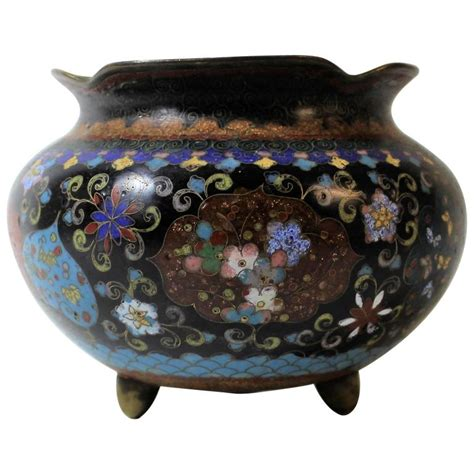 Cloisonne Planter by Japanese Meiji Period Cloisonne Planter Bowl For Sale At