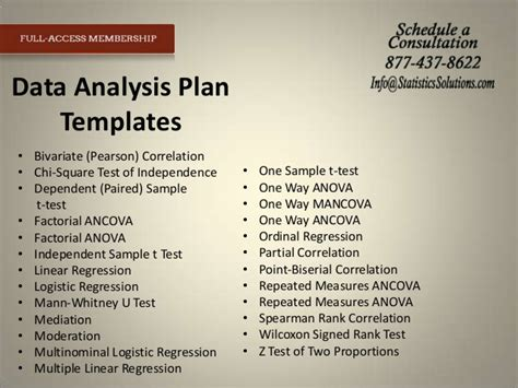 data analysis plan template tools to expedite your irb and results chapter