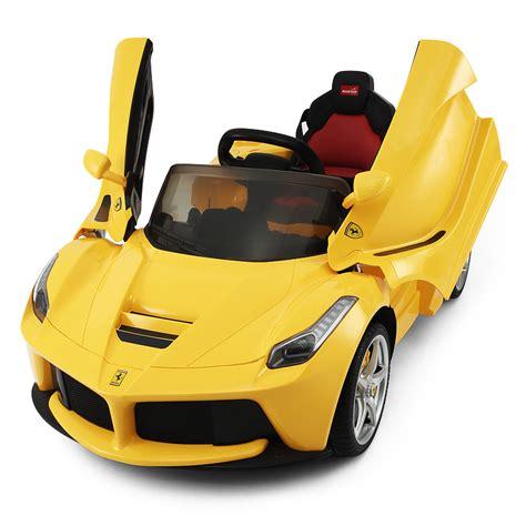 Kinder Auto Zum Fahren by 12v Ferrari Laferrari Gelb Kinder Elektro Auto