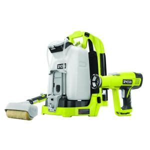home depot cordless paint sprayer ryobi one backpack sprayer roller console p635 the home