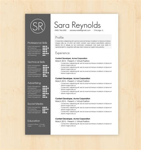 resume layout template resume template cv template the by phdpress