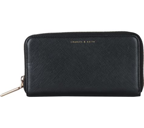 Charles N Keith With Clutch charles and keith black wallet