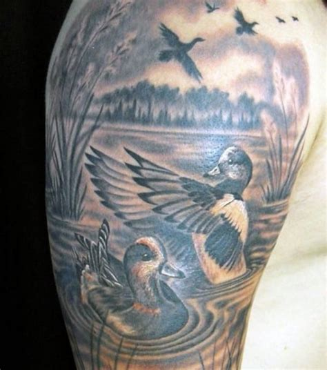 pond tattoo designs duck in pond sleeve creativefan