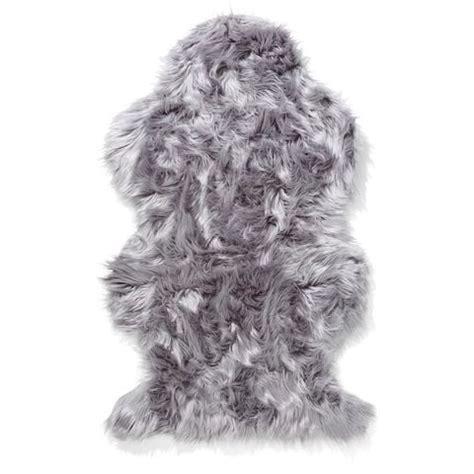 Grey Faux Fur Rug by Wellington Faux Fur Rug Grey Kmart