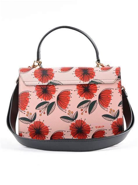 Furla Metropolis Flower Tas Branded furla floral printed moonstone leather metropolis s top handle bag in pink modesens