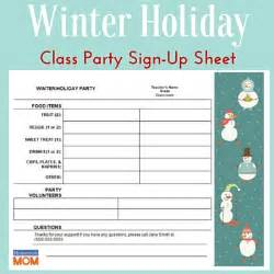 food day sign up sheet template winter classroom sign up sheet homeroom