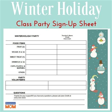 class party ideas homeroom mom