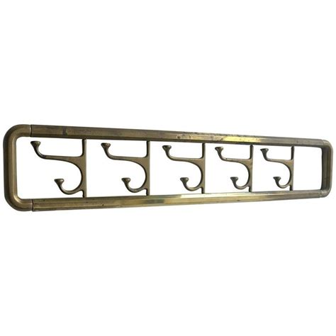 Foldable Coat Rack by Foldable Wall Coat Rack In Brass 1940s At 1stdibs