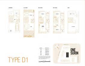 one surin floor plan type d one surin