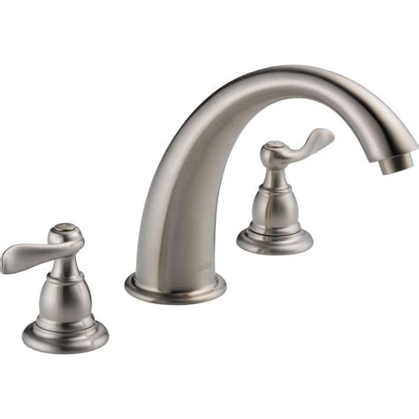 bathtub faucet leak faucets reviews delta windemere 2 handle deck mount roman tub faucet trim