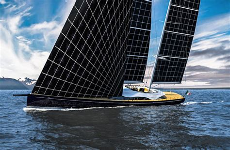 sailboats under sail solar powered sailing yacht helios concept for young
