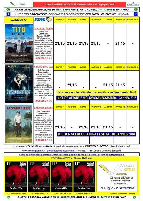 cinema gabbiano programmazione cinema e teatro gabbiano di senigallia