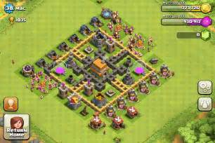 Town hall layout clash of clans tips town hall level 6 layouts