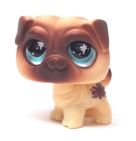 littlest pet shop lps brown tan green eyes dachshund dog
