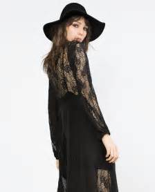 Galerry black lace dress zara