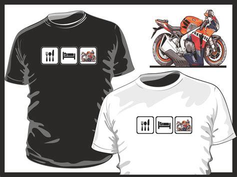 Exclusive Repsol T Shirt by Koolart Eat Sleep Design For Honda Repsol Motorbike Biker