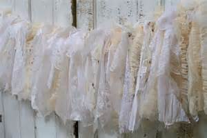 shabby chic garland garland white shabby chic lace and by anitasperodesign