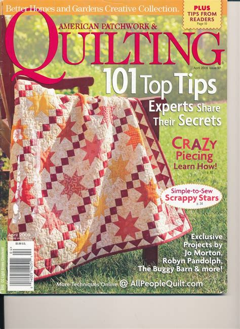 American Patchwork And Quilting Website - american patchwork quilting april 2009 issue 97