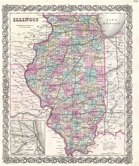 map of illinois mapquest file 1855 colton map of illinois geographicus il