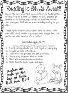 Parent Letter Guided Reading Tips For Parents When Reading With Their Kindergartener Pass Out At Orientation