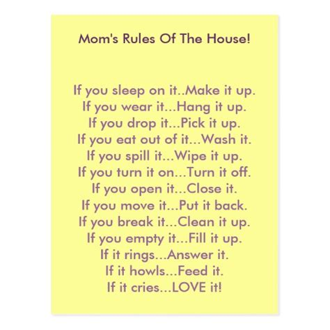 house rules house rules moms bing images