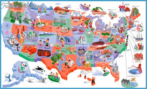 tourist map of united states of america united states map tourist attractions travelsfinders