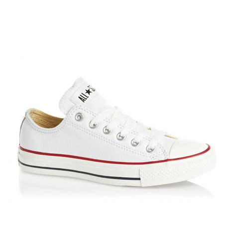 Convers White Ox converse converse ct ox white textured leather n80 132173c unisex trainers converse from