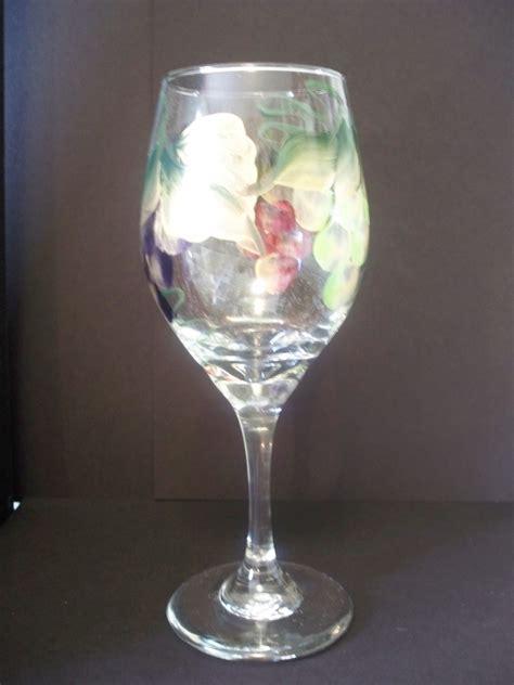 Hgtv Home Design Forum hand painted grapes wine glass dishwasher safe