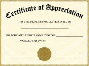 free certificates of appreciation templates certificate of appreciation templates pdf word get