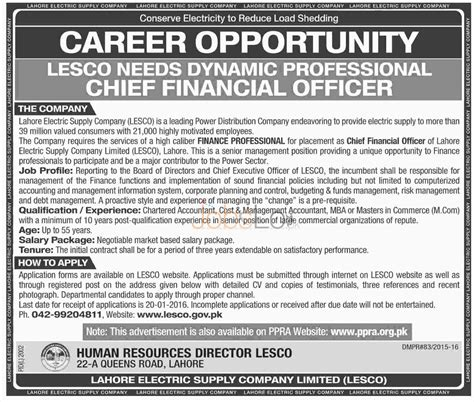 Sunday Mba Salary by In Lesco 2016 Lahore Electric Supply Company