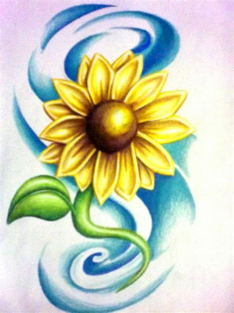 sunflower tattoo design by HeatherFerguson on DeviantArt